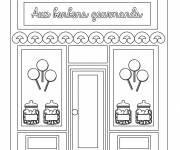 Free coloring and drawings The Candy Merchant Coloring page