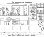 Coloring pages The Candy Store