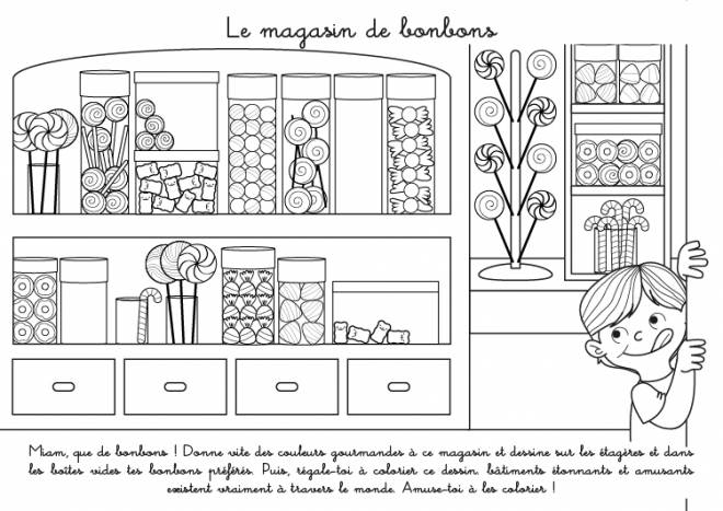 Free coloring and drawings The Candy Store Coloring page