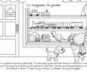 Coloring pages The Children's Toy Store