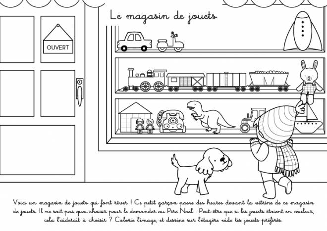 Free coloring and drawings The Children's Toy Store Coloring page