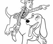 Coloring pages The Cowboy and his Disney Dog