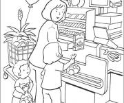 Coloring pages The Family at the Store