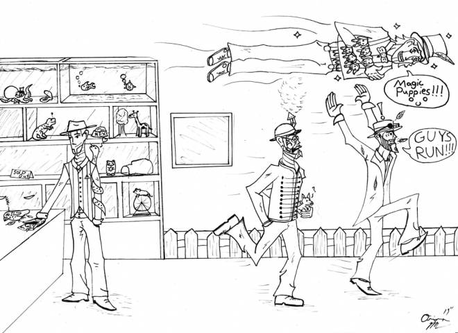 Free coloring and drawings The Magic Store Coloring page