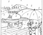 Coloring pages The Mouse in the Rain