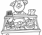 Free coloring and drawings The Pastry Coloring page