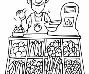 Coloring pages The Vegetable Seller