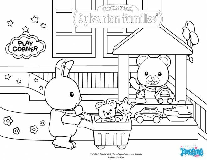 Free coloring and drawings Toy store Coloring page