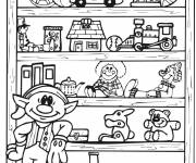 Coloring pages Toy Store and Rays