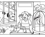 Coloring pages Vector animal store