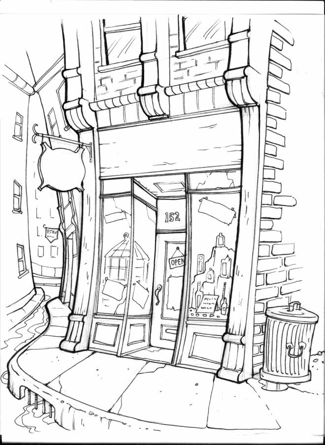 Free coloring and drawings Vector store Coloring page