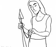 Free coloring and drawings Colored ancient weapons Coloring page
