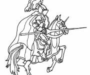 Free coloring and drawings Medieval warrior Coloring page