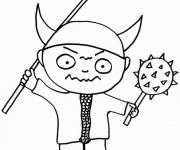 Coloring pages Viking weapons for kids