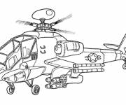 Free coloring and drawings War Cobra helicopter Coloring page