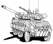 Free coloring and drawings War tank Coloring page