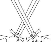 Coloring pages Weapons Swords