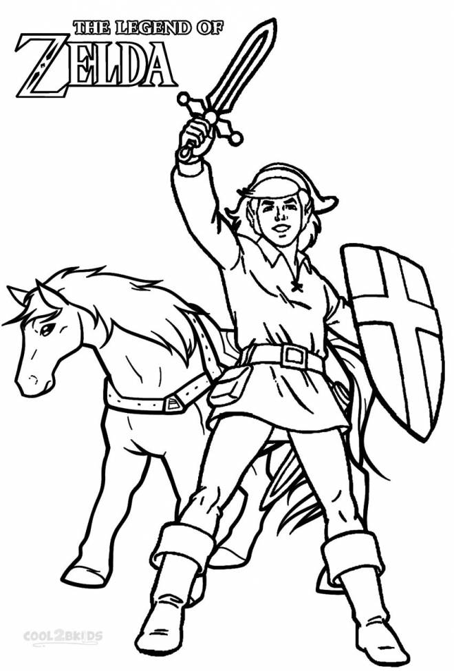 Free coloring and drawings Affiche The Legend of Zelda Coloring page