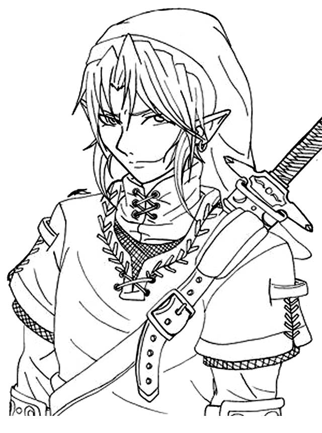 Free coloring and drawings Color link Coloring page