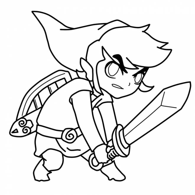 Free coloring and drawings Colored Toon Link Coloring page