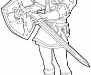 Coloring pages Link Breath Of The Wild