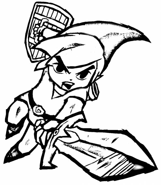 Free coloring and drawings Link Breath Of The Wild Video Game Coloring page