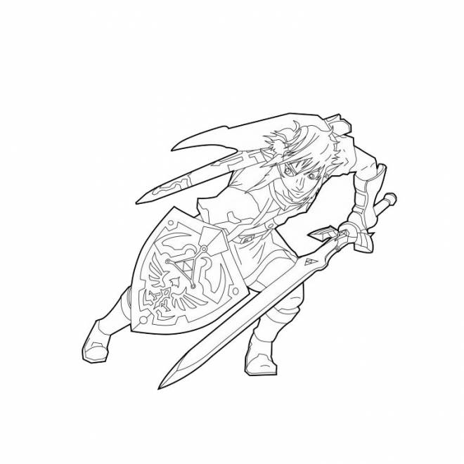 Free coloring and drawings Link in vector Coloring page