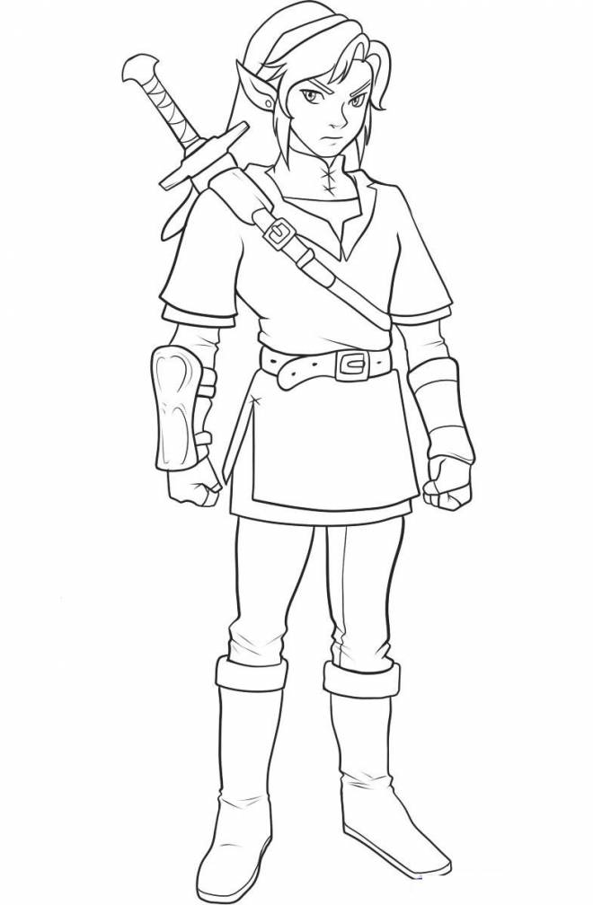 Free coloring and drawings Link's picture Coloring page