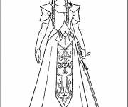 Free coloring and drawings Maternal zelda Coloring page
