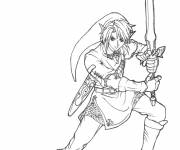 Coloring pages Nintendo link for children