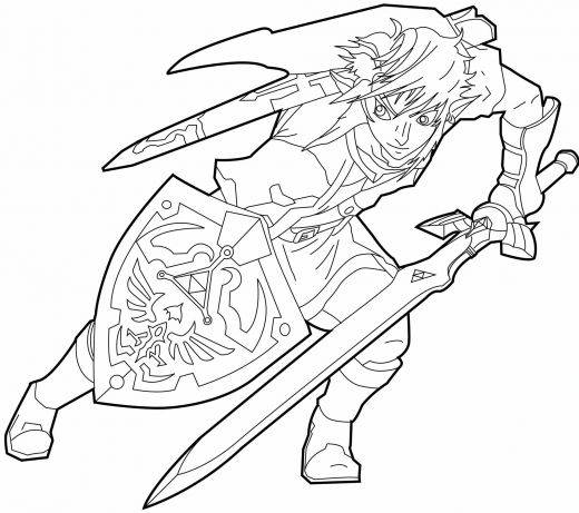 Free coloring and drawings Prince Link vector Coloring page