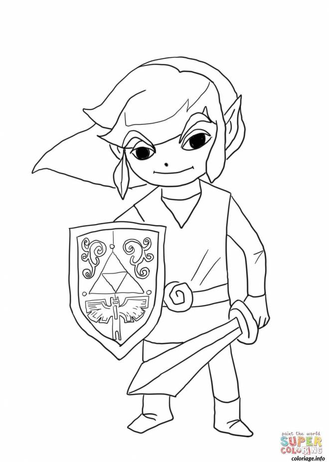 Free coloring and drawings Show Link easy Coloring page