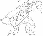 Free coloring and drawings Stylized link Coloring page
