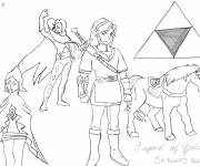 Free coloring and drawings The Legend of Zelda Coloring page