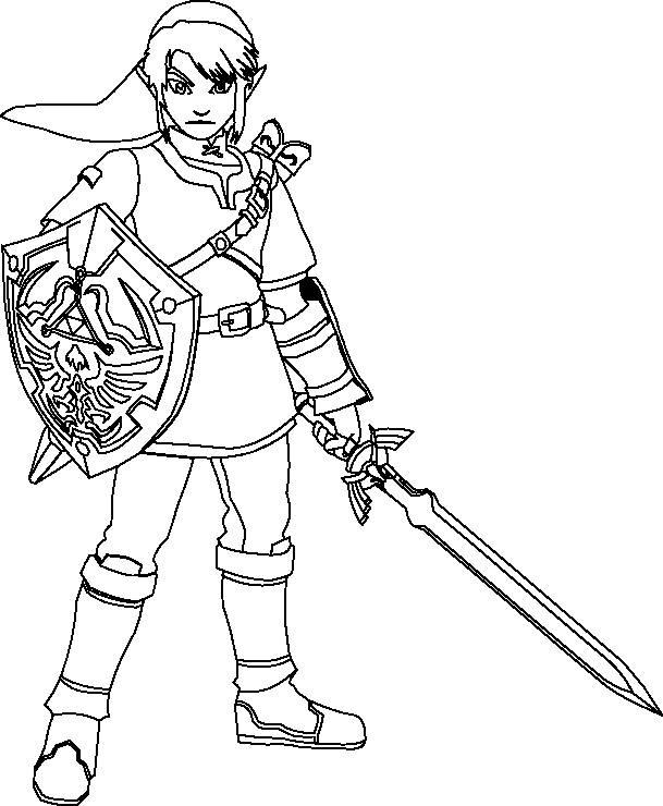 Free coloring and drawings The legend of Zelda to print Coloring page