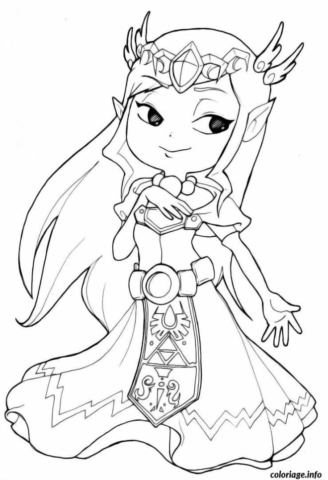 Free coloring and drawings The serie The Legend of Zelda Coloring page