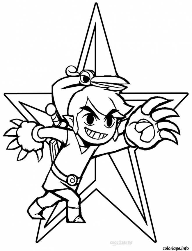 Free coloring and drawings Toon Link for our little ones Coloring page