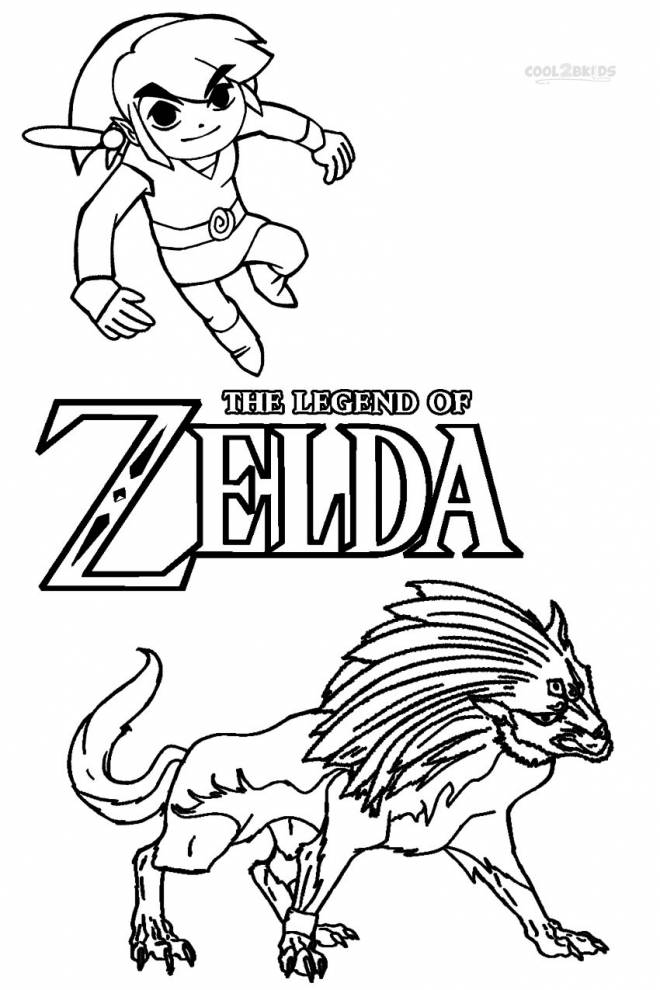 Free coloring and drawings Toon Link Online Coloring page