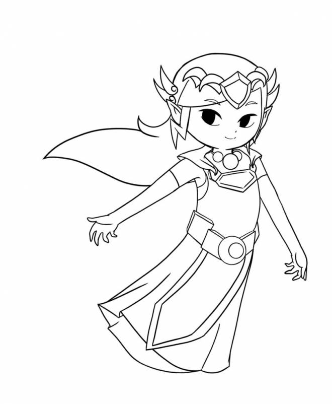 Free coloring and drawings Toon Zelda Nintendo Coloring page