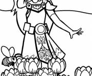 Coloring pages Toon Zelda smiling