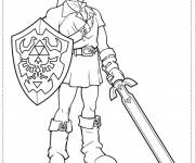 Coloring pages Zelda Breath Of The Wild to cut