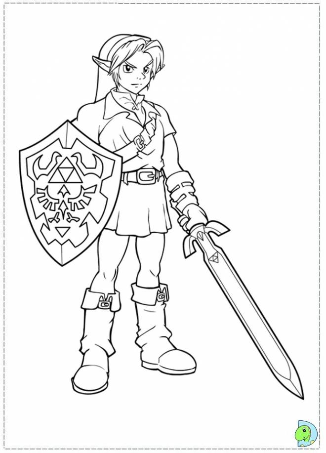 Free coloring and drawings Zelda Breath Of The Wild to cut Coloring page