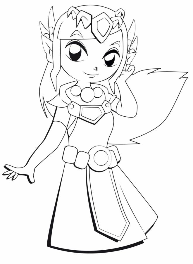 Free coloring and drawings Zelda Cartoon Coloring page