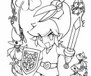 Coloring pages Zelda Character