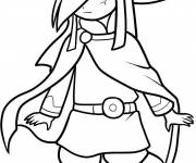Coloring pages Zelda Character in vector