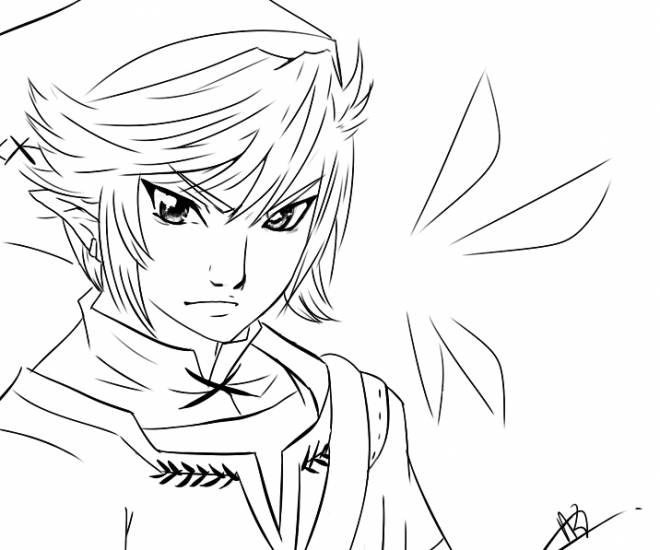 Free coloring and drawings Zelda Character Link Coloring page