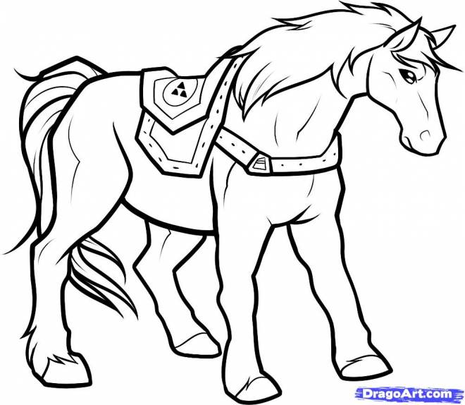 Free coloring and drawings Zelda horse Coloring page