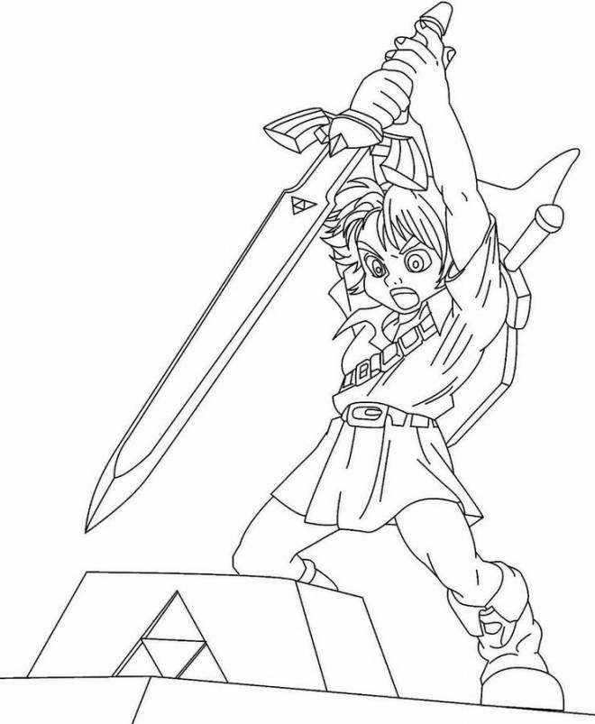 Free coloring and drawings Zelda Link Coloring page