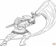Free coloring and drawings Zelda Link to download Coloring page