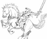 Coloring pages Zelda on The Magic Horse